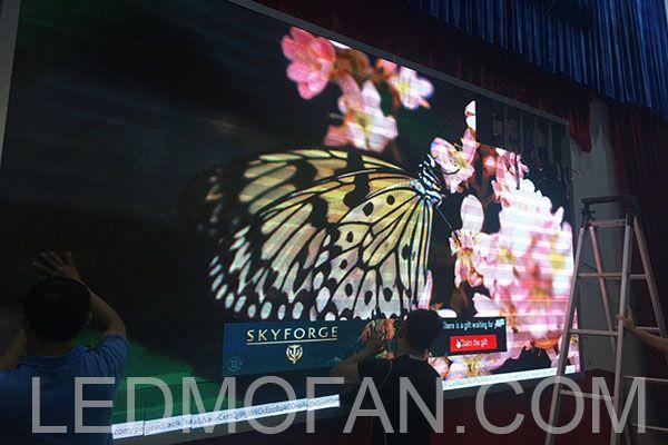 Mẫu sản phẩm màn hình LED P4 trong nhà (indoor) mà LEDMofan đã thi công.
